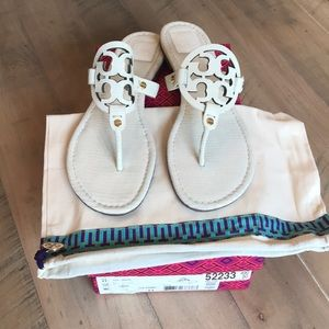Tory Burch Miller Ivory sandals
